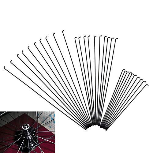 KOET 10 Fahrradspeichen Speichen, Stahlspeichen, Mountainbike-Speichen, 170/286 mm, mit Nippeln