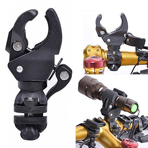 Flashlight Mounting Bracket, 0-90 Degree Bike Light Stand Bike Handlebar Grips Clamp Light for Flashlight Holder Flash Torch Bicycle Headlight Flashlight Mount LED Light Stand Bike Speaker Clamp Lamp