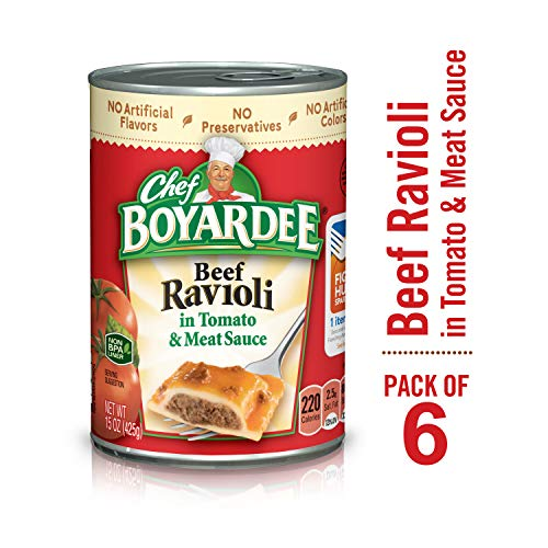 Chef Boyardee Beef Ravioli, 15 Ounce, Pack of 6