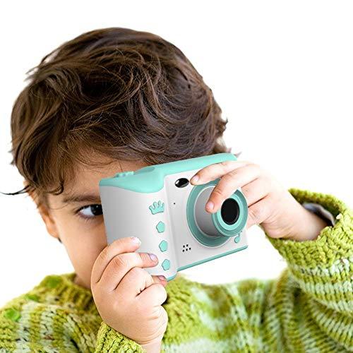 Cámara infantil para niños de 4 a 8 años de edad, con pantalla táctil HD de 2,8 pulgadas IPS, cámara digital dual de 18 MP para niños verde claro