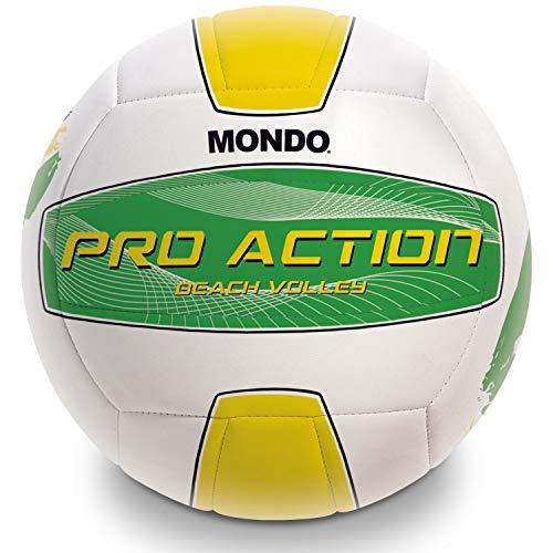 Mondo Toys 13851 - Balón de Voleibol de Playa Pro Action Jamica, tamaño 5, 270 g, Color Amarillo, Blanco y Verde