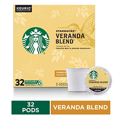 Starbucks Blonde Roast K-Cup Coffee Pods — Veranda Blend for Keurig Brewers — 1 box (32 pods total)