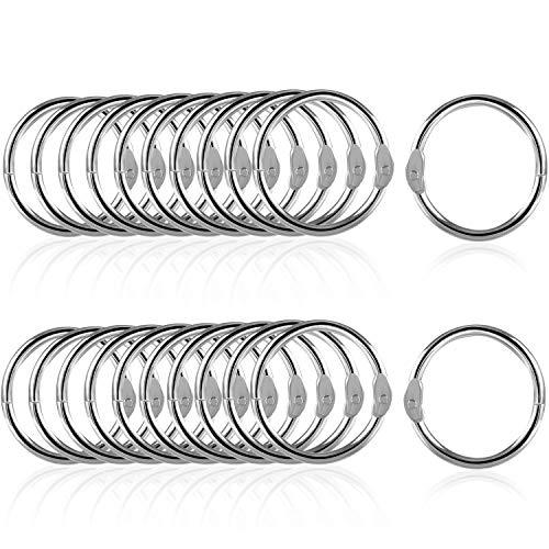 Farielyn-X 110 Pack Loose Leaf Binder Rings, 1 Inch Silver Metal Book Rings, Nickel Plated Key Rings for School, Home, or Office