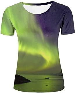 Men's Summer Full 3D Amazing Aurora Printed T Shirts