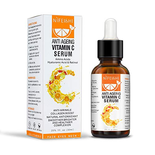Vitamin C Serum for Face with Hyaluronic Acid & Retinol Natural Anti-Aging & Anti Wrinkle Facial Serum Hydrate and Brighten Skin, Boost Skin Collagen 30ml