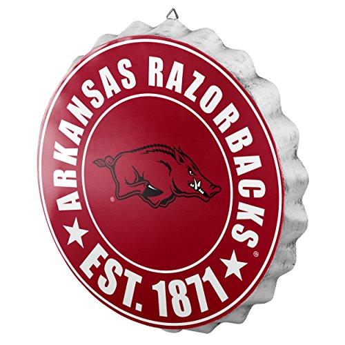 FOCO NCAA Bottle Cap Wall Sign, Arkansas Razorbacks Arkansas Razorbacks Ncaa Basketball