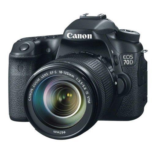Canon EOS 70D - Cámara digital (20.2 MP, CMOS, TTL) con objetivo Canon EF-S 18-55mm [importado]