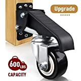 SPACECARE Workbench Stepdown Caster, 600 Lbs Capacity Set of 4 Durable Heavy Duty Steel Wheels for Workbenches Tables and Equipments [New Version]