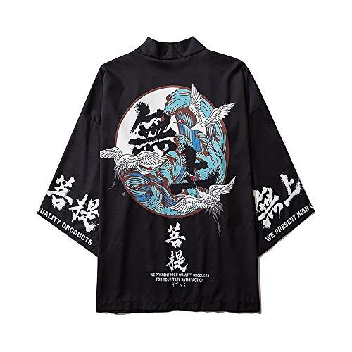 Ukiyo Kimono, Japans gelakt, voor dames, heren, paren, los, 7 punten, shirt