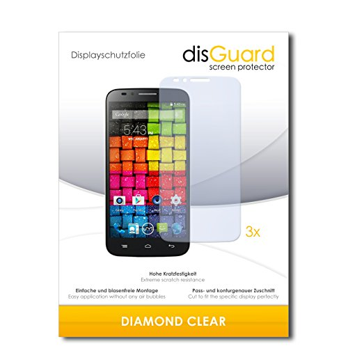disGuard 3 x Schutzfolie UMI eMax Bildschirmschutz Folie DiamondClear unsichtbar