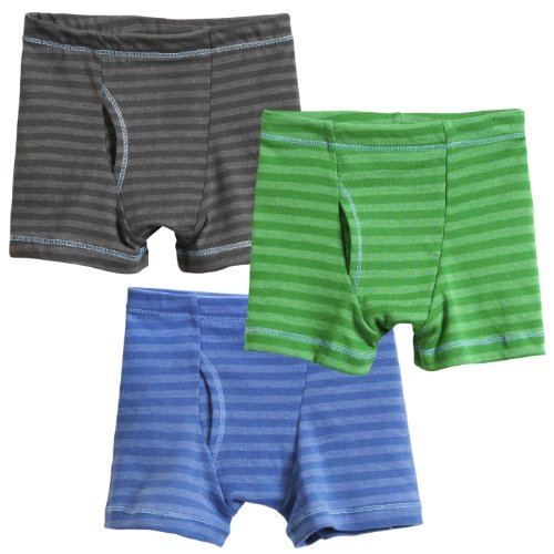 City Threads Boys' Striped Boxer Briefs 3-Pack...