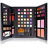 SHANY Cosmetics Shany luxe book makeup gift set - all in one travel cosmetics kit with 30 eyeshadows, 15 lip colors, 5 brushes, 4 pressed blushes, 3 brow colors, and mirror, Multi-Colored