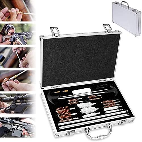 wsbdking Conjunto de pinceles de limpieza de armas, kit de limpieza de pistolas universales, pinceles de latón, tela de limpieza, para todos los pinceles de limpieza de pistola de tiro de caza con est
