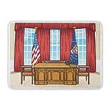 LIS HOME Badteppich-Architektur-Schreibtisch der ovale Büro-Präsident United States im...