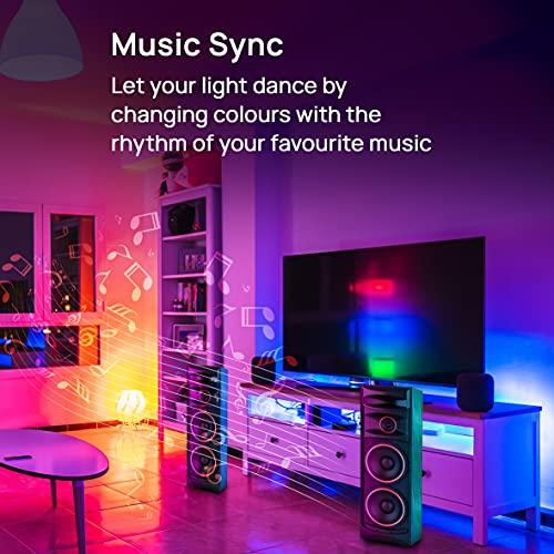 wipro 9-Watt B22 WiFi Smart LED Bulb with Music Sync (16 Million Colours + Warm White/Neutral White/White) (Compatible with Amazon Alexa and Google... 5