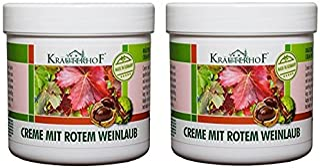 Kräuterhof Creme mit rotem Weinlaub 250 ml 2er Pack 2 x 250 ml= 500 ml