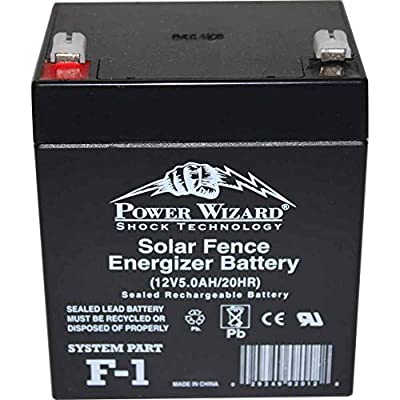 AgraTronix F-1 Solar Fence Replacement Battery 12V, Rechargeable for Fence Energizers | Fencing Accessories