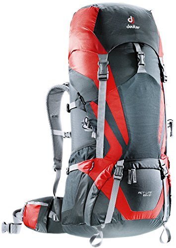 Deuter ACT Lite 65+10 Hiking Backpack (Granite/Fire)