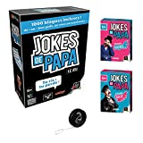 Lot Jeux Gigamic: Jokes de Papa + Extension Sucrée + Extension Salée + 1 Yoyo Blumie