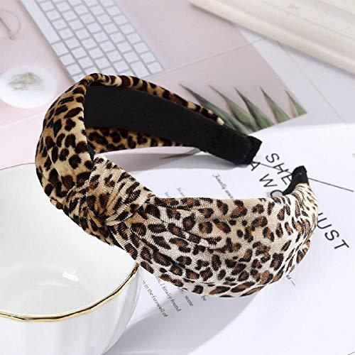Tony plate Haarbügel Haarschmuck Frauen Leopard Stirnband Mode Dot Lünette Kopfschmuck Knoten Breite Seite Haar Reifen Haarschmuck Winter Tiara-2