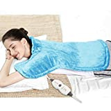 REVIX Electric Back Heating Pad for Neck and Shoulders Pain Relief with Auto Shut Off, Extra Large Moist Heat Wrap for Full Body UL Listed Neck Warmer Sky Blue