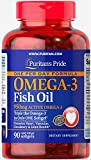 Puritans Pride One Per Day Omega-3 Fish Oil 1360 Mg (950 Mg Active Omega-3)-90 Softgels, 90 Count
