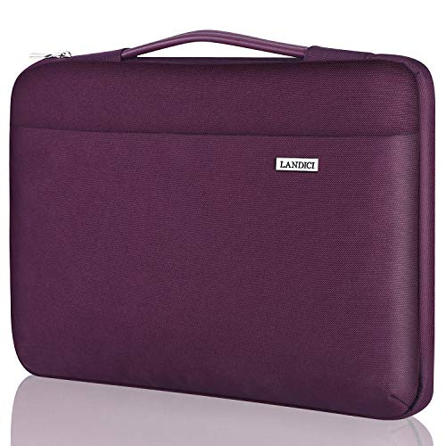 """Landici Laptop Case Sleeve 11 11.6 12 Inch with Handle,360°Protective Waterproof Computer Cover Bag Compatible with MacBook Air 11,Surface Pro 7/6,Acer Hp ASUS Chromebook,12.5"""" Tablet-Purple"""