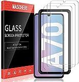 MASCHERI 3 Pezzi Pellicola per Samsung Galaxy A70 Schermo Protettivo 9H Durezza Strumento per Una Facile Installazione Protezione Vetro Temperato Galaxy A70 Protettiva -Trasparente