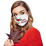 30 Piezas Cara_Mascarillas Desechables de Navidad para Adultos para Protección 3 Capas Transpirables con Elástico para Los Oídos para Seguro Transpirable Protección -1022LING19
