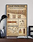 The Oracles- Cigar Knowledge Cigar Sizes Shapes Colours Guide Chart How to Smoke A Cigar Poster No Framed (12'x18')