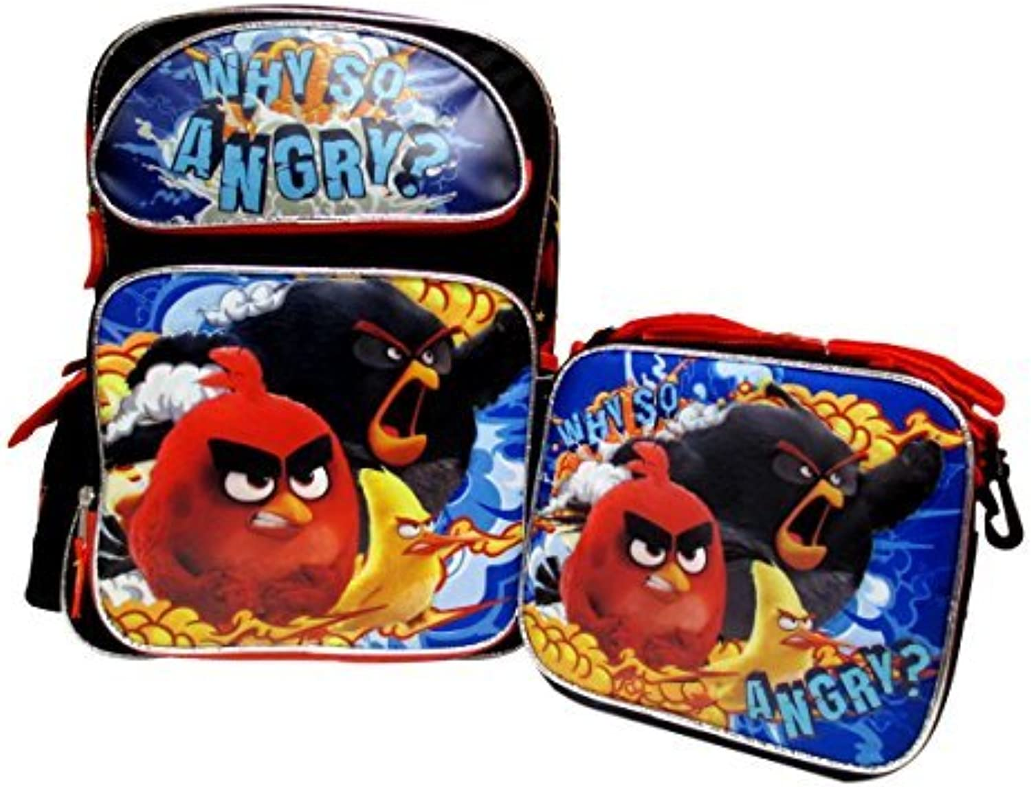 Angry Birds Large 16 Backpack & Lunch Box by by by Bag2School B01M24WHDH | Helle Farben