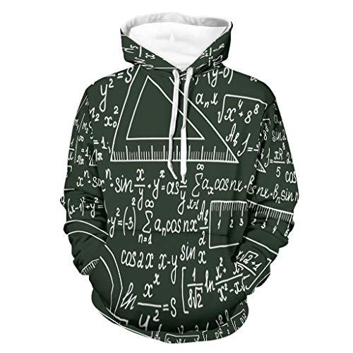 Sudadera con capucha para hombre, divertida y matemática, cuadrada, con capucha, estilo – Amor Mathe Comfort – White 2XL