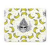 Rauchen Affengesicht mit Brille Banane Rechteck rutschfeste Gummi Mousepad, Gaming Mauspad Mausmatte für Büro Home Frau Mann Mitarbeiter Chef Chef Arbeit