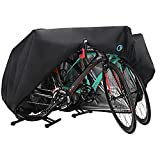 Bike Cover for 2-3 Bike Waterproof Outdoor Bicycle Cover with Lock Hole for Mountain Road Bikes