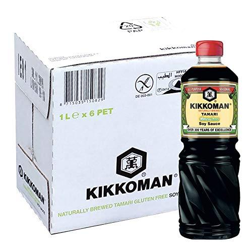 Kikkoman - Sauce de soja TAMARI SANS GLUTEN pour sushi et mets japonais (1x1L) - Original Import Japon