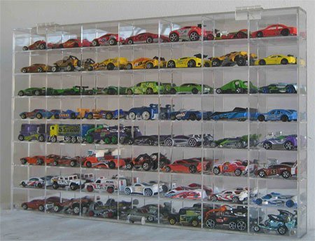 Display case cabinet for 164 diecast scale cars hot wheels, matchbox 160NBB-1