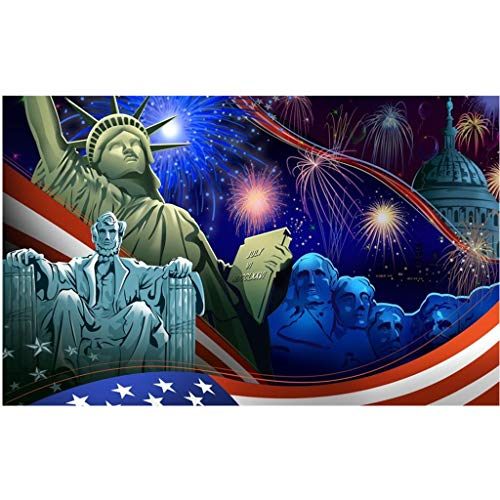 DIY 5D Diamond Painting Kit for Adult Kids, Full Drill 4th of July Eagle American Flag USA Pride...
