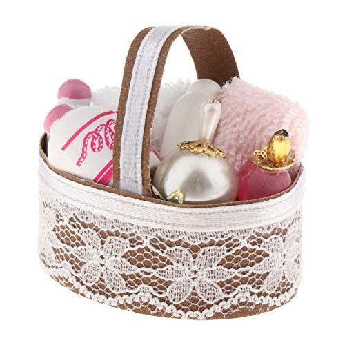 Sharplace 1:12 Escala casa de muñecas Muebles de baño Miniatura niños Juguetes para niñas niños Regalos