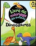 Livre de coloriage dinosaures pour enfants de 3 à 6 ans: Cahier d'activités pour garçons et filles. Tyrannosaurus, ptérodactyle, stégosaure, ... et bien plus à griffonner et colorier