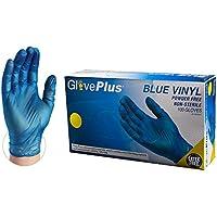 1000-Count GlovePlus Industrial Blue Vinyl Gloves