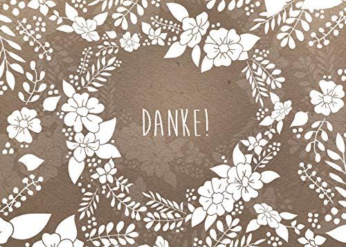 50 Dankeskarten, Hochzeit, Geburt, Baby, Geburtstag, Konfirmation, Dankeschön, Danke sagen
