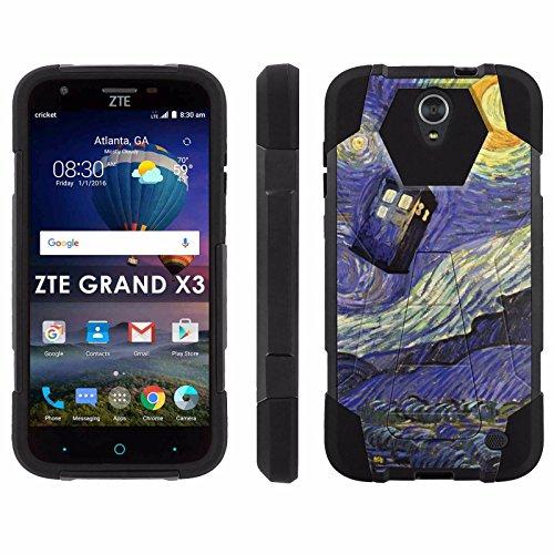 ZTE Uhura Grand X3 Z959 [Warp 7] Phone Cover, Stary Night Doctor - Black Hexo Hybrid Armor Phone Case for ZTE Uhura Grand X3 Z959 [Warp 7]