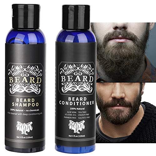 Set para el cuidado de la barba Box Face Wash, set para después del afeitado para hombres Champú para bigote de 120 ml + acondicionador para barba de 120 ml El mejor set de lavado de barba para hombr