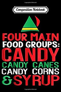 Composition Notebook: 4 Main Food Groups Elf Buddy Christmas Journal/Notebook Blank Lined Ruled 6x9 100 Pages