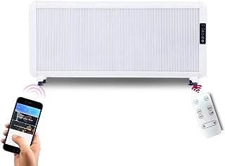 Radiador eléctrico MAHZONG Convection Heater 2000W White - Termostato Ajustable, 5 configuraciones de calefacción y Temporizador - De pie, con Aislamiento térmico