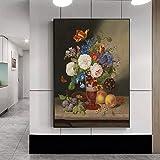 wZUN Florero de Estilo impresionista Pintura en Lienzo de Flores Grandes Flores...