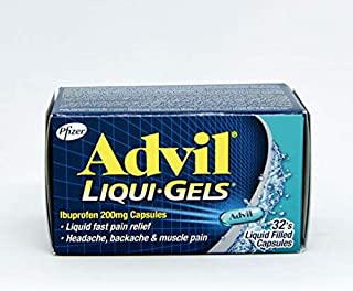 Advil Pain and Fever Relief Liqui-Gels 200 mg, 32 Capsules
