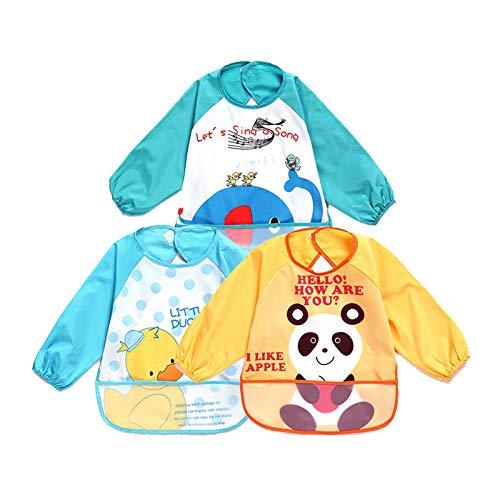 3 * Baby anti-dressing, zak eten, waterdichte jurk, baby schilderij kleding, waterdicht, gemakkelijk schoon te maken