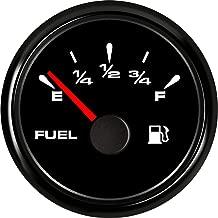 SAMDO Digital Fuel Level Gauge Universal Fuel Meter 240-33ohm Signal Adjustable 7 Color Backlight 52mm 12V/24V