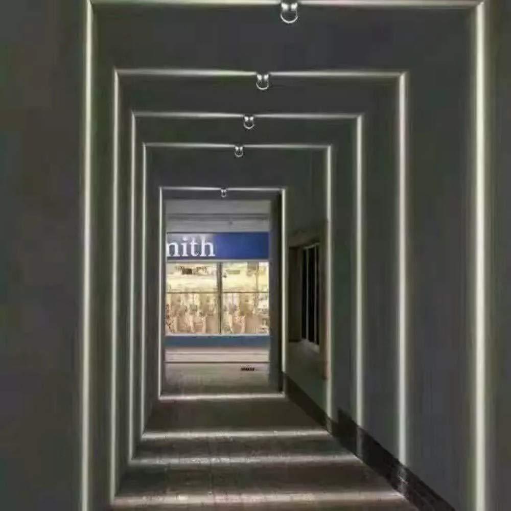 Led De Pared Exterior Iluminación Escalera De Interior Iluminación Interior De La Pared Montaje En Pared Negro Hermosa Luz Blanca Lámpara De La Ventana Led Impermeable Al Aire Libre: Amazon.es: Iluminación